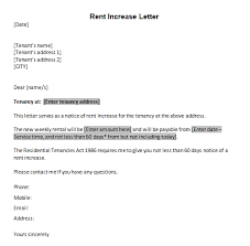 how to write a rent increase notice 6 rent increase letter templates free sample templates