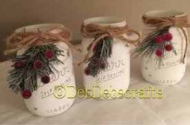 Mason Jar Holiday Decorations Rustic Christmas decor Christmas mason jars Home decor 29