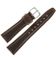 hadley roma hadley roma ms881 18mm short watch band oiled leather brown padded mens com