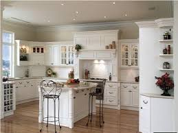 Solid Wood Floor In Kitchen Cream Kitchen Cabinets With Dark Hardwood Floors Kitchen Homes