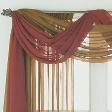 Curtain valence ideas Country Style Scarf Valance Ideas Pulling Ideas For Bedroom Curtains Im Interested In Doing Swag In My Home Office curtain swag scarf Pinterest Ways To Hang Scarf Valances Home Curtains Curtain Designs