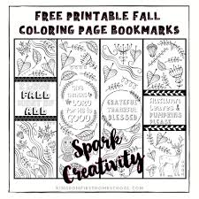 Bible verse bookmarks for kids. Gorgeous Free Fall Printable Coloring Page Bookmarks