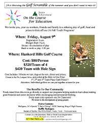 Ja Golf Outing Flyer 2019 Hankerd Hills Golf Course