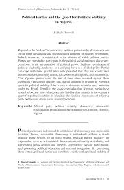 political parties and the quest for political stability in ia  political parties and the quest for political stability in ia pdf available