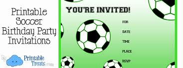 Soccer Party Invitations Free Printable Soccer Birthday Party Invitations Printable Treats Com