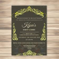 Lohri Invitation Cards Entry 9 By Mahbub0797 For Baby First Lohri Invitation Card
