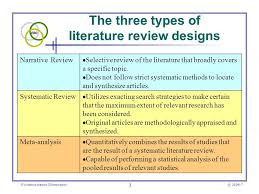 Critical literature review vs systematic review   American