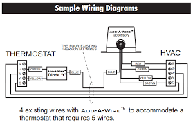 thermostat is it possible to use add a wire with my current 4 Wire Thermostat Wiring Diagram enter image description here 4 wire honeywell thermostat wiring diagram