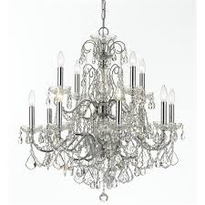 crystorama imperial 12 light crystal chrome chandelier