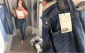Trying On H M Jeans Is H M Sizing A Danger To People With