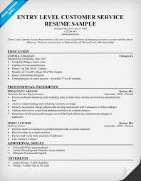 Customer Service Representative Resume Summary O.