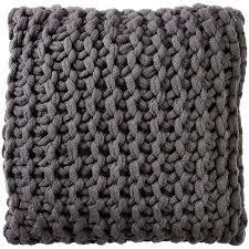 house home knit cushion charcoal