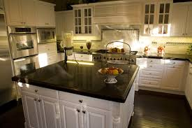 Dark Granite Kitchen Countertops Black Granite Countertops With Brown Cabinets