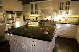 black granite kitchen countertops with white cabinets