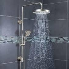 rainshower shower heads shower head with wand round rain and handheld combo rain shower head with