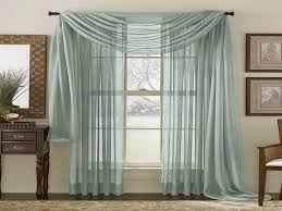Nice Curtain Ideas For Large Windows | ... Pattern : Grey Sheer Curtains For  Large Amazing Design