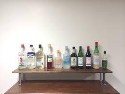 glass shelves for kitchen cabinets inspirational tall bar shelf liquor shelf wood riser kitchen water bottle storage gallery