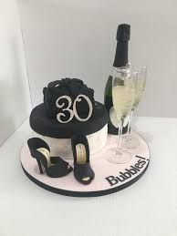 Classy 30th Birthday Cake