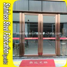 exterior commercial stainless steel security glass entry door pictures photos