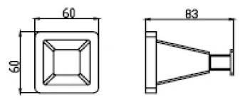 <b>Крючок</b> для полотенец <b>Kaiser Moderne</b> KH-1032 одинарный <b>хром</b>