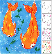Art For Kids Art Projects For Kids Koi Fish Painting Tutorial Painting
