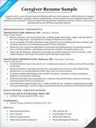 Caregiver Resume Example Resume Layout Com