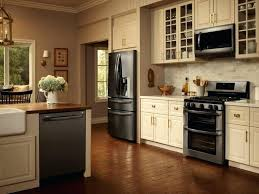 white cabinets black appliances kitchens with black appliances photos round white bar stools area wooden framed