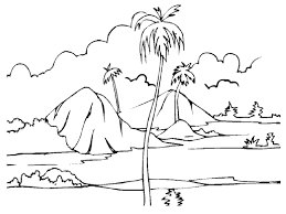 landscape coloring book drawing others