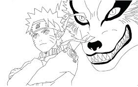 coloring pages and the nine tailed fox page naruto sasuke shippuden