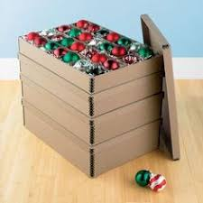 Christmas Decorations Storage Box Real Simple Holiday 100Count Ornament Storage Provides Convenient 45