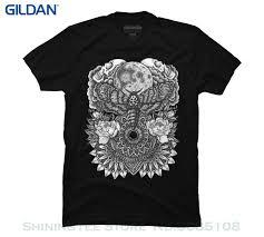 Design T Shirt Store Graphic Brand T Shirt Men 2019 Fashion Moth Moon Mandala Mens Graphic T Shirt Design Bys Retro T Shirt Design Tee Shirts From Shiningteestore 13 92
