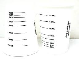 Paper Cup Size Chart Measuring Cup Sizes Cooking Size Chart Measurement 2 Measure