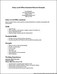Entry Level Resume No Experience Noxdefense Com