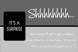 Invitations For Surprise Birthday Party Shukyakumaster