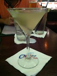 i started the night off right with my favorite a dirty martini with blue cheese olives i probably could drink a whole glass of olive juice