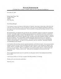 Attorney Cover Letter Calmlife091018 Com
