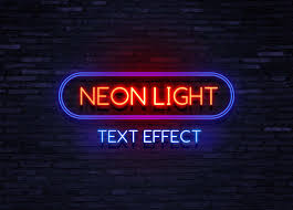 Neon Light Logo Mockup Free Neon Text Effect Mockup Psd