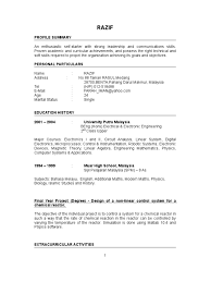Sample Resume For Fresh Graduate Accounting In Malaysia Resume