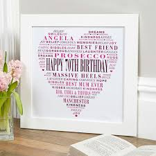 personalized 70th birthday present gift for her