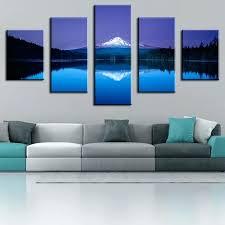 5 piece canvas art set 5 piece mountain lake reflection modern home wall decor canvas clever 5 piece canvas art set 5 piece wall