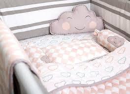 happy cloud organic cot bedding set