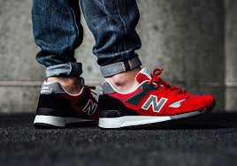 new balance shoes 2016. another rendition of the new balance 577 is offered this season, as popular runner incorporates bright red to perfectly coordinate with spring/summer. shoes 2016 r