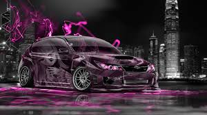 subaru impreza jdm fantasy city car