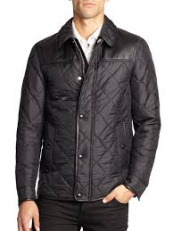burberry kinley quilted jacket in black for men lyst