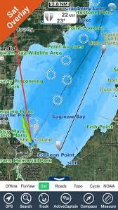 Saginaw Bay Michigan Gps Chart Navigator