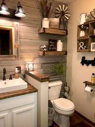 Hang up a fun and fresh look in the main bathroom or guest bath with this graphic art print. 59 Best Farmhouse Wall Decor Ideas For Bathroom 48 Ideaboz