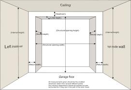 2 car garage door dimensionsGarage Door Dimensions On Stylish Home Decor Ideas P39 with Garage