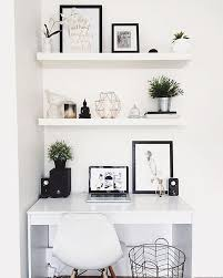 home office decor computer. Modern Computer Desk Ideas, Interior Design, Diy, White, Small Space, Home Office Decor I