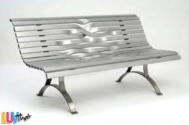 woven metal furniture. woven metal slats bench furniture e