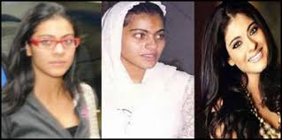 ainee jafrey with and without make up inshare kajol photo with out make up